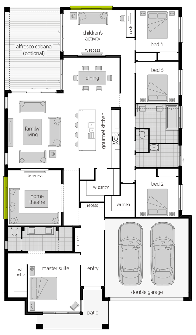 Coolum One Zero Floorplan lhs