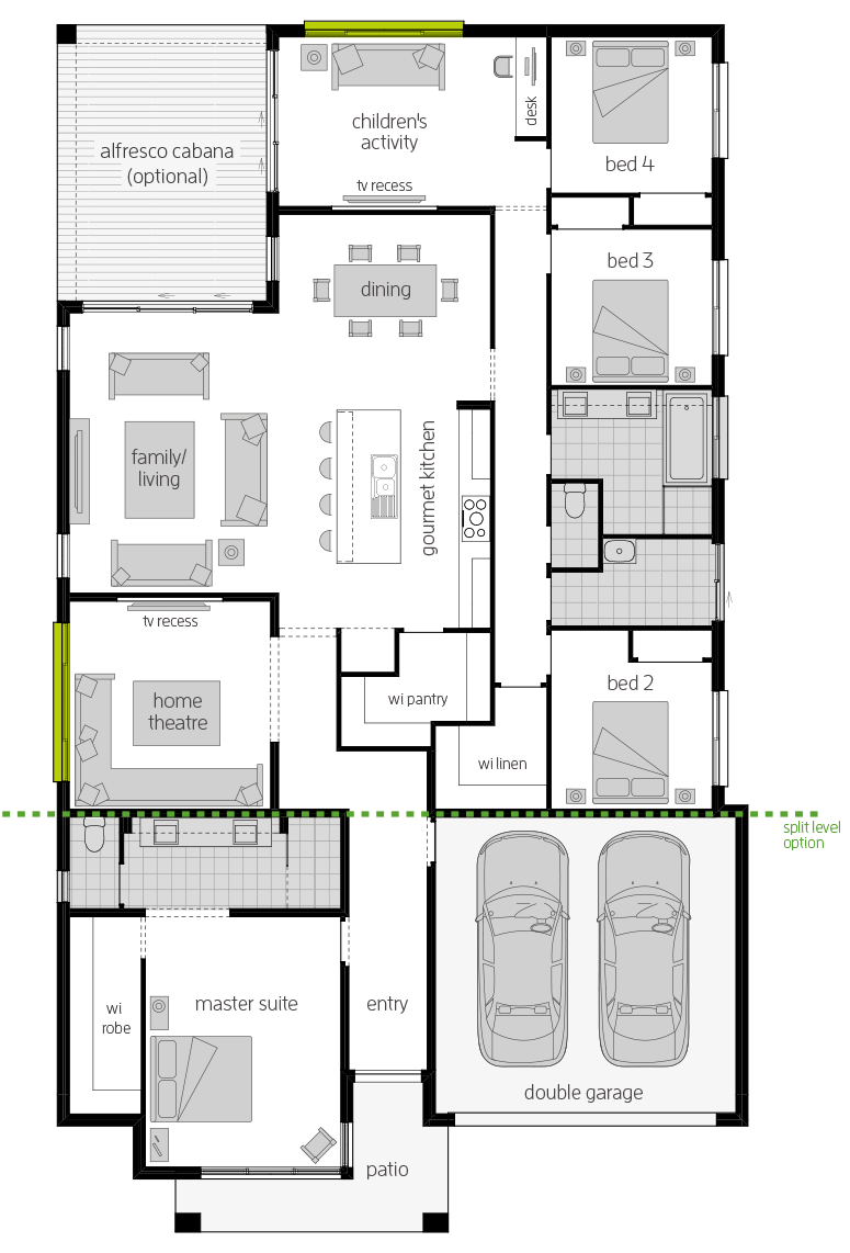 Coolum Two Floorplan lhs