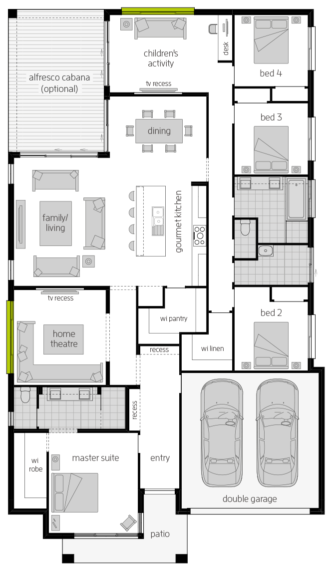 Coolum One Floorplan lhs