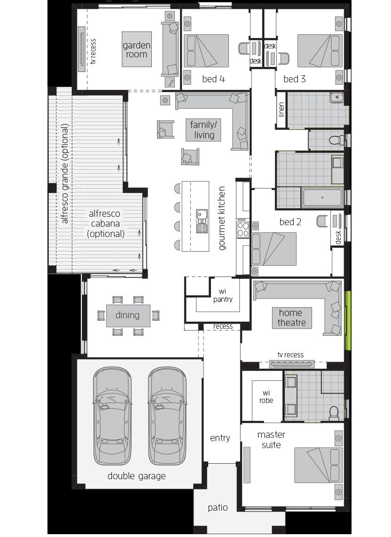 Garden Retreat One floorplan lhs