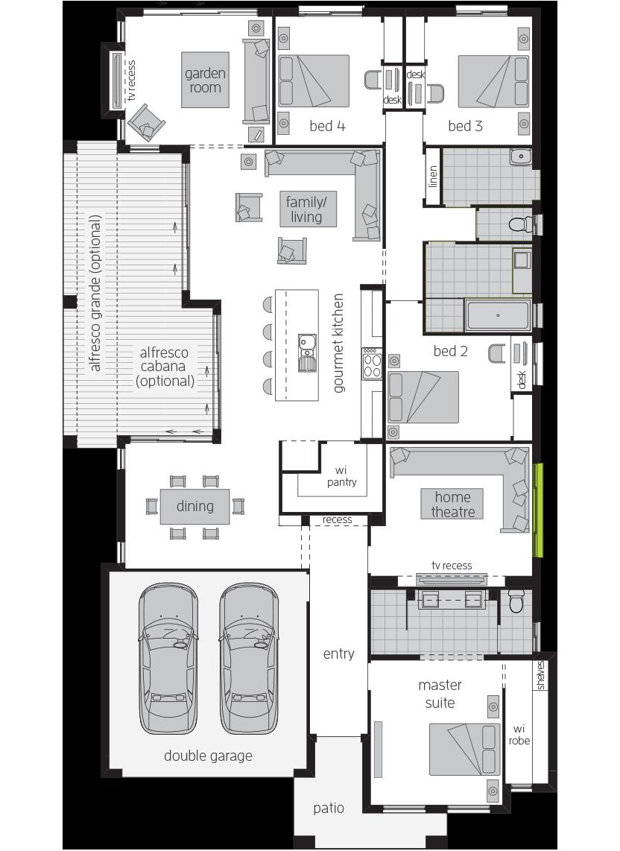 Garden Retreat Two floorplan lhs