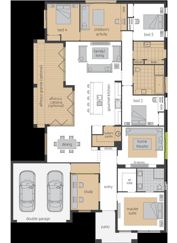 Garden Retreat Upgrade floorplan lhs