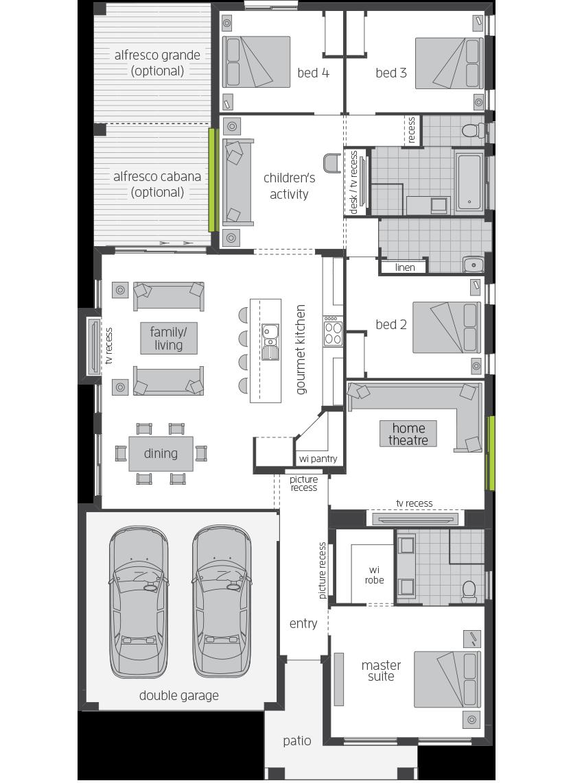 Havana Renwick floorplan lhs