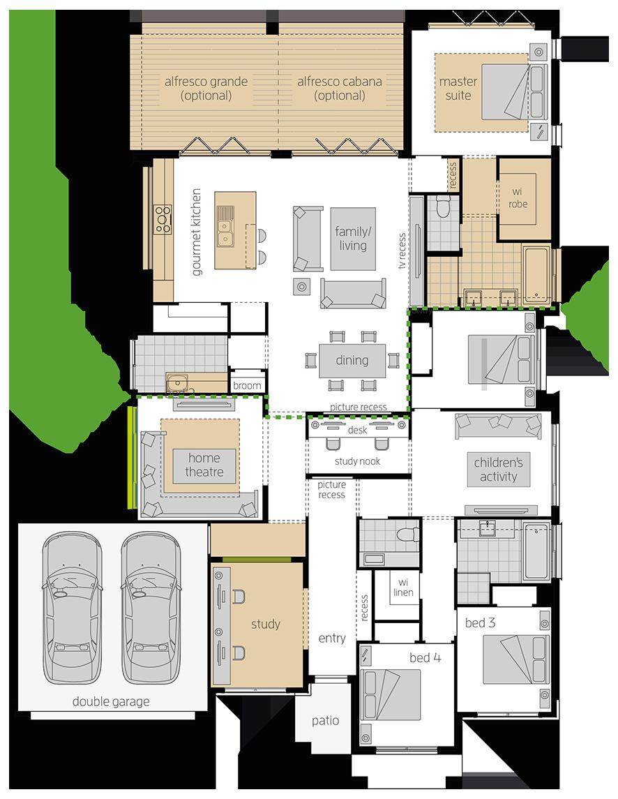 Portifino upgrade floorplan lhs