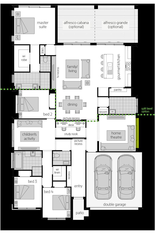 Portofino floorplan lhs
