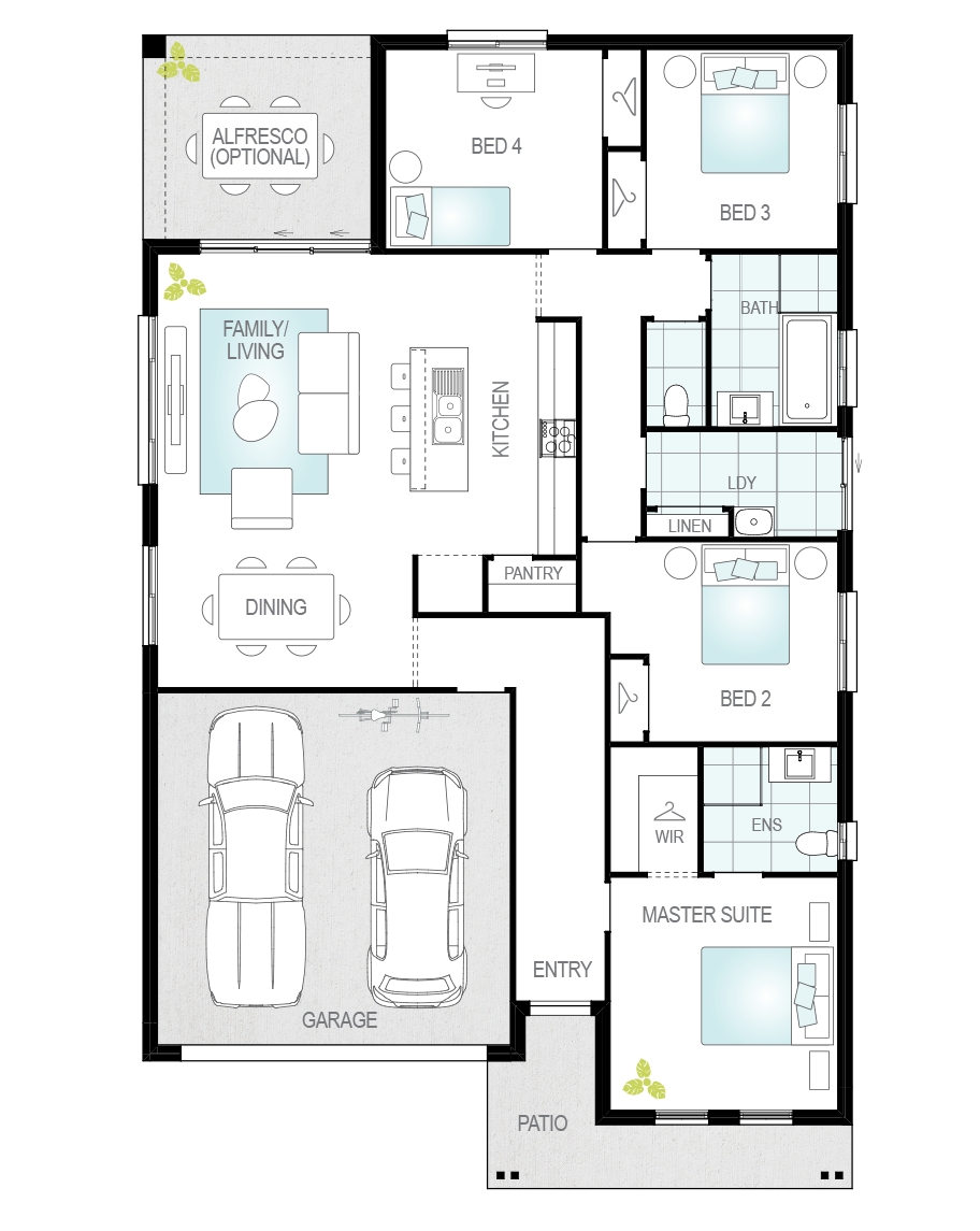 Floor Plan - Almeria One - McDonald Jones