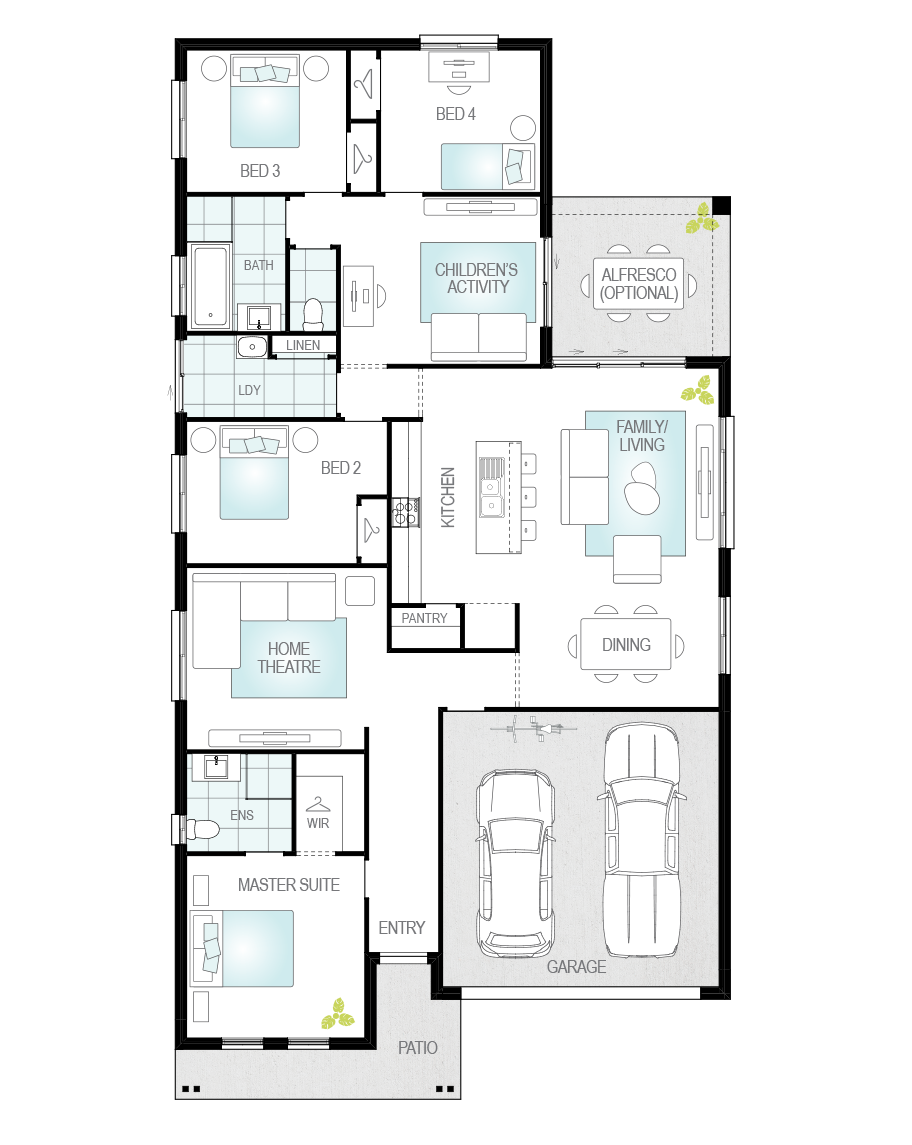 Floor Plan - Almeria Two - McDonald Jones