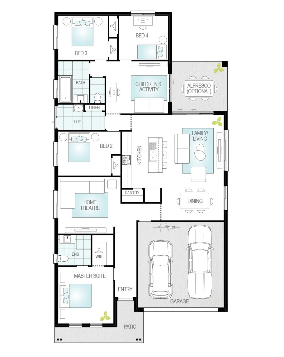 Floor Plan - Almeria Two - McDonald Jones