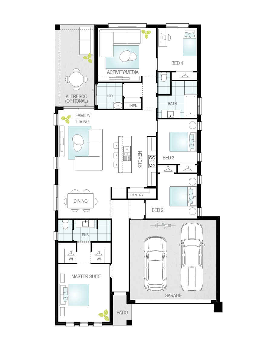 Floor Plan - Alpina - Now Series - Canberra - McDonald Jones