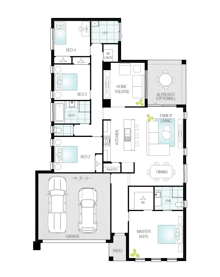 Floor Plan - Aston - Now Series - Canberra - McDonald Jones