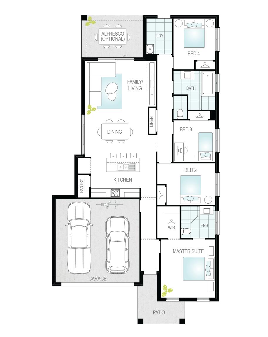 Floor Plan - Benito - Affordable Home Design - McDonald Jones