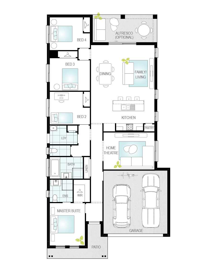 Floor Plan - Castalla Two - Affordable Home Design - McDonald Jones
