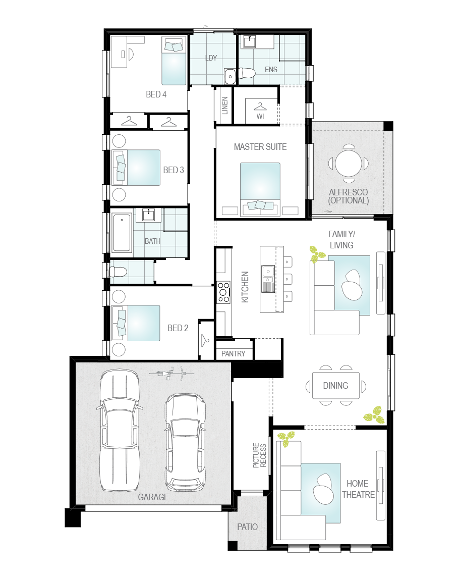 Floor Plan - Daimler - Now Series - Canberra - McDonald Jones
