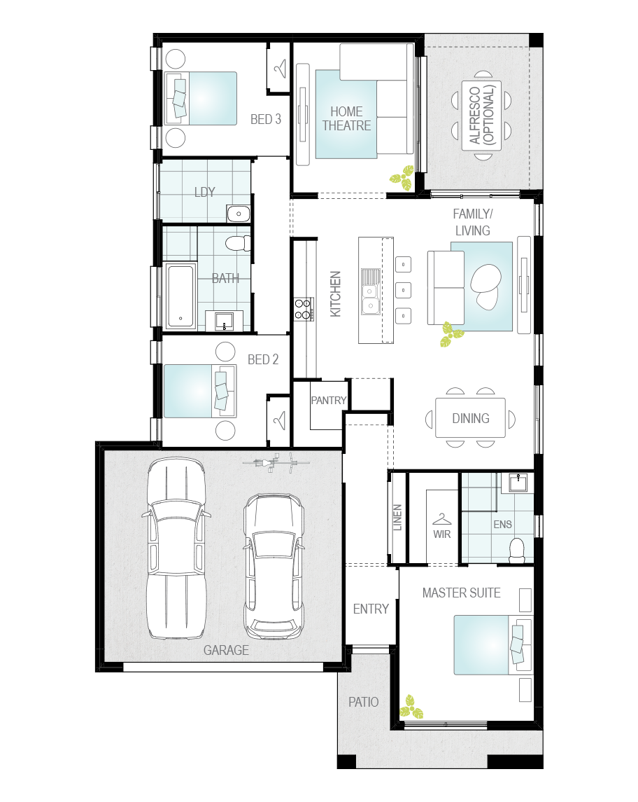 Floor Plan - Lagonda - Now Series - Canberra - McDonald Jones