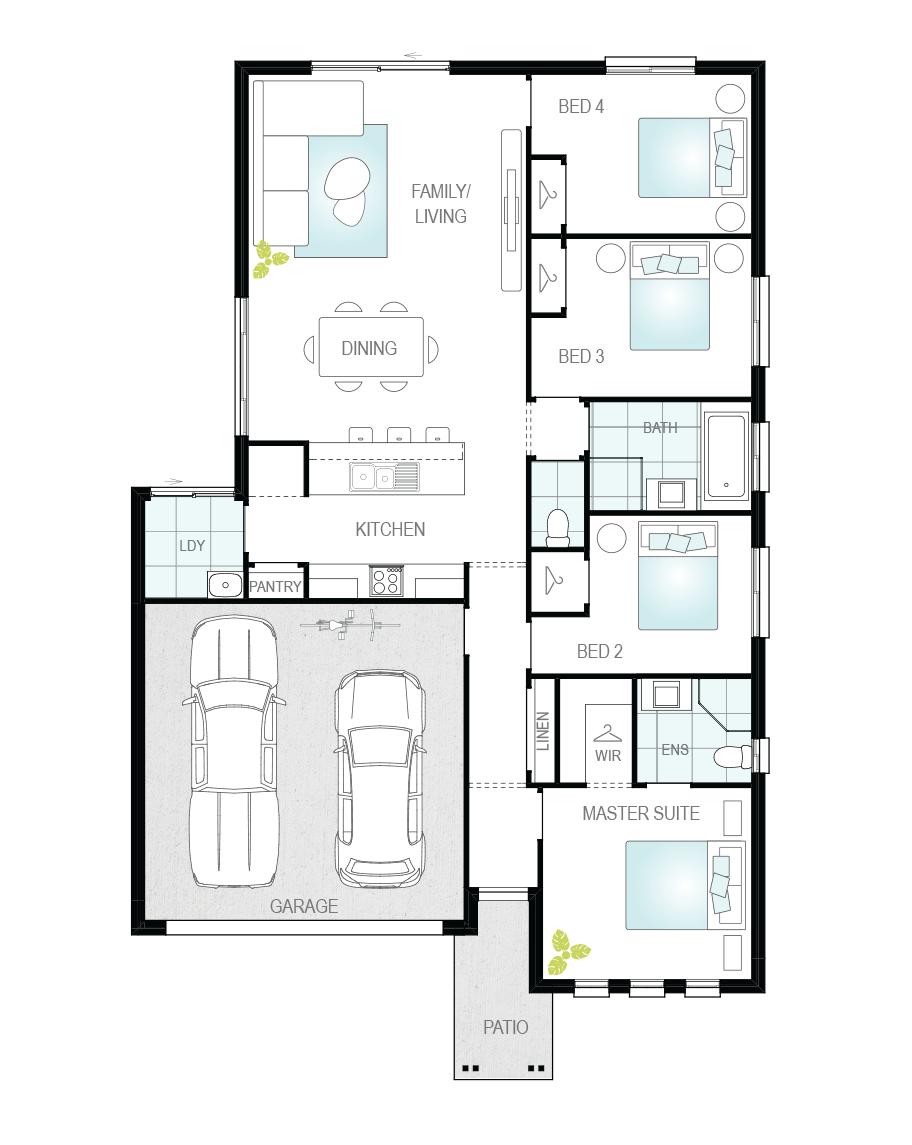 Floor Plan - Lucena - Great Value Home - McDonald Jones