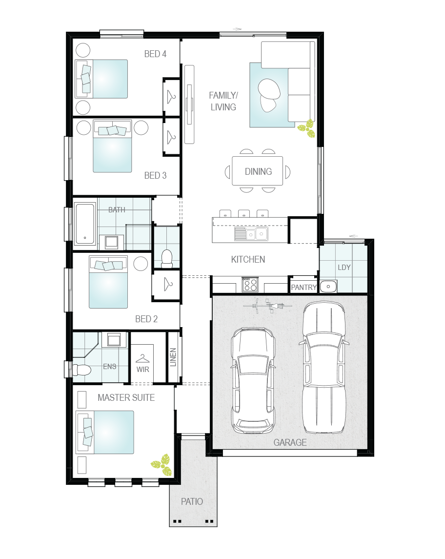 Floor Plan - Lucena - Great Value Home - McDonald Jones