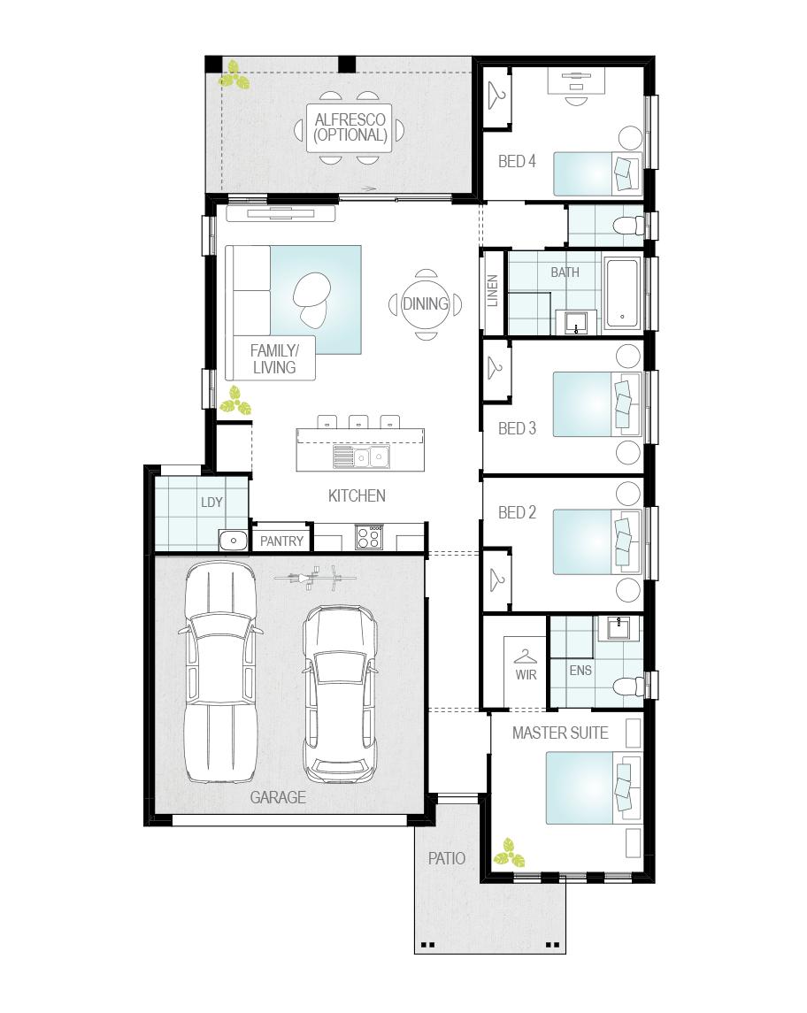 Floor Plan - Marbella - Single Storey Home - McDonald Jones
