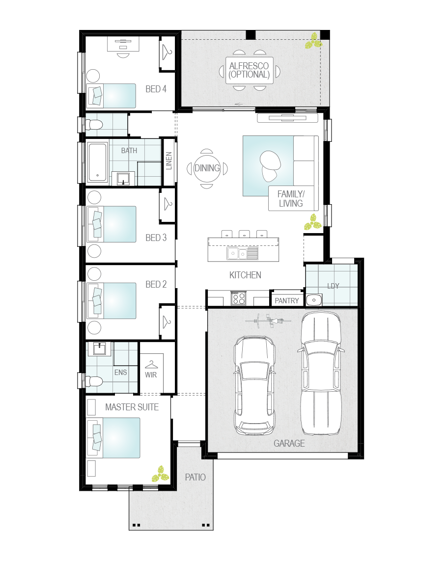 Floor Plan - Marbella - Single Storey Home - McDonald Jones