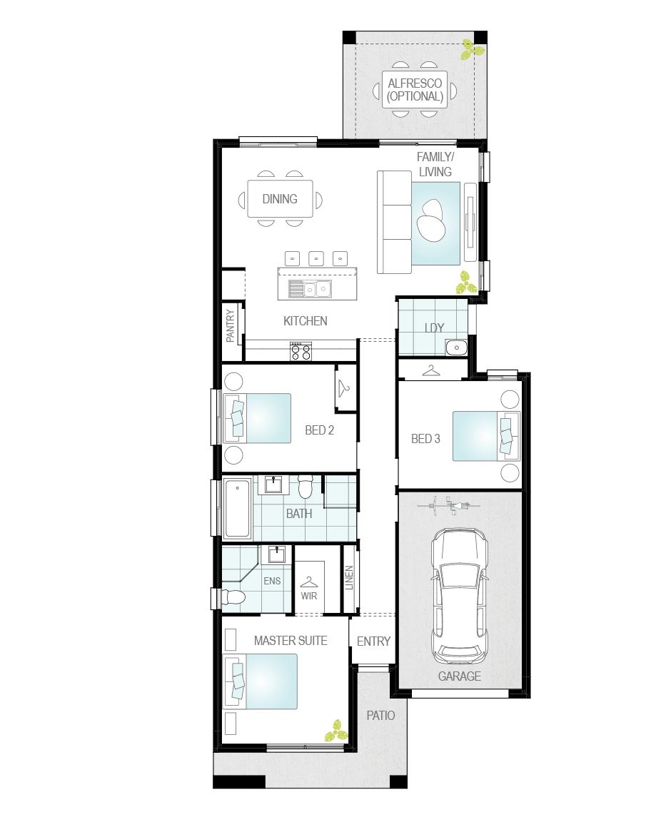 Floor Plan - Targa Home Design - Now Series - McDonald Jones