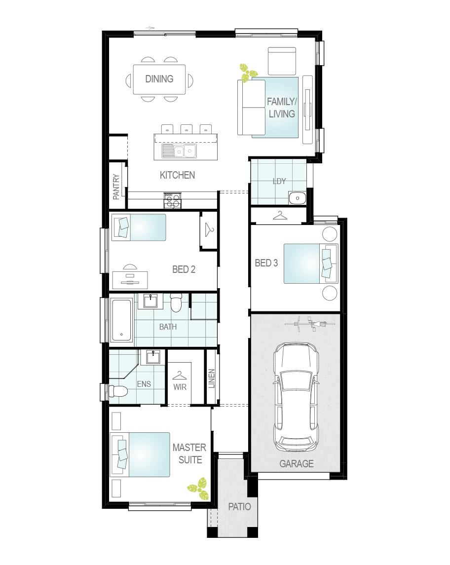 Floor Plan - Tavira Three - Single Storey Home - McDonald Jones