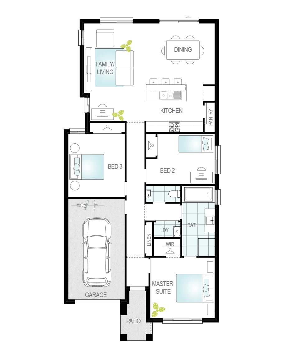 Floor Plan - Tavira Two - Single Storey Home - McDonald Jones