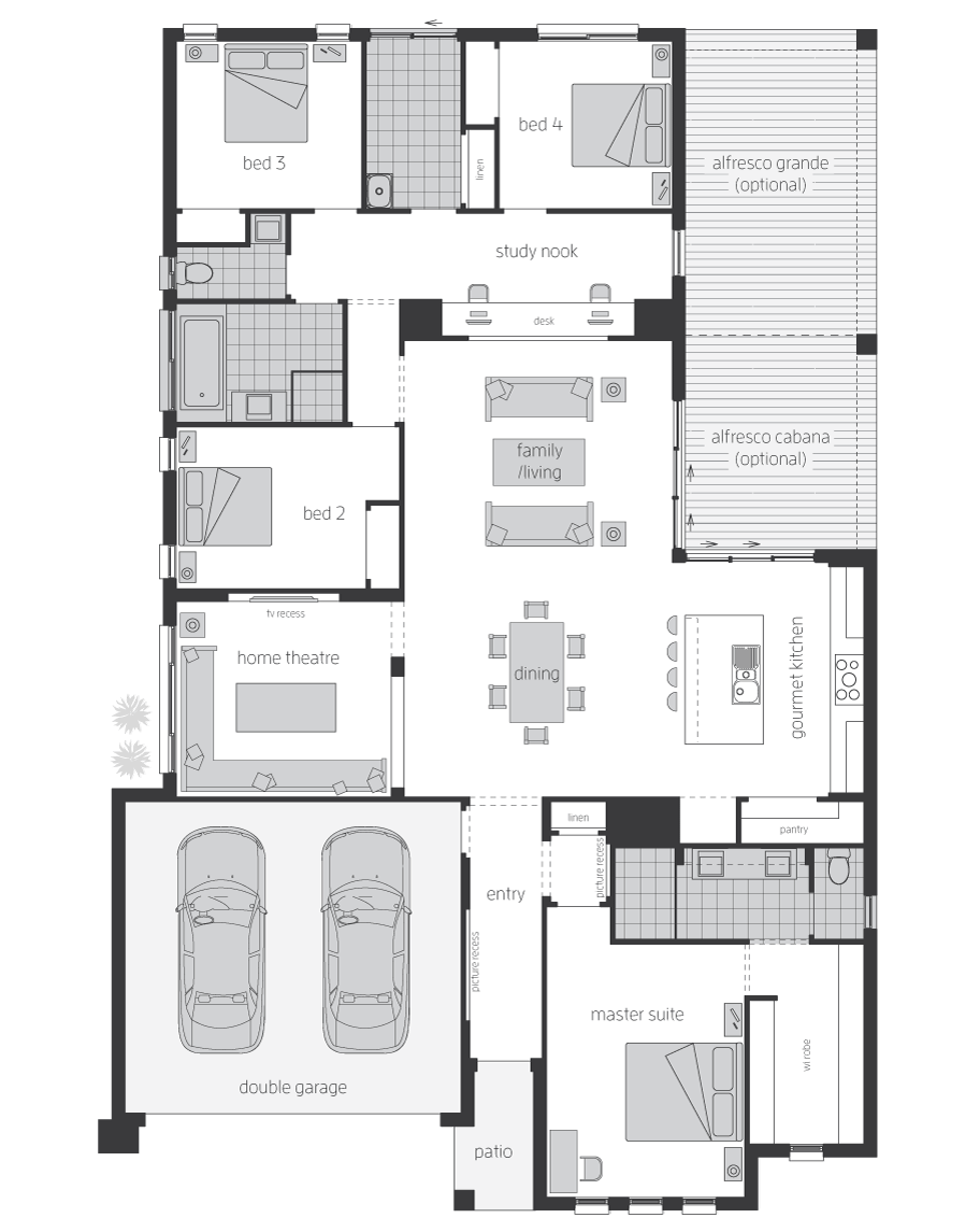 Floor Plan - Belvedere - Home Designs Canberra - McDonald Jones