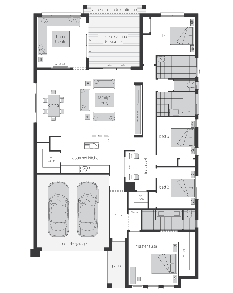 Floor Plan - Martell - Home Designs Canberra - McDonald Jones