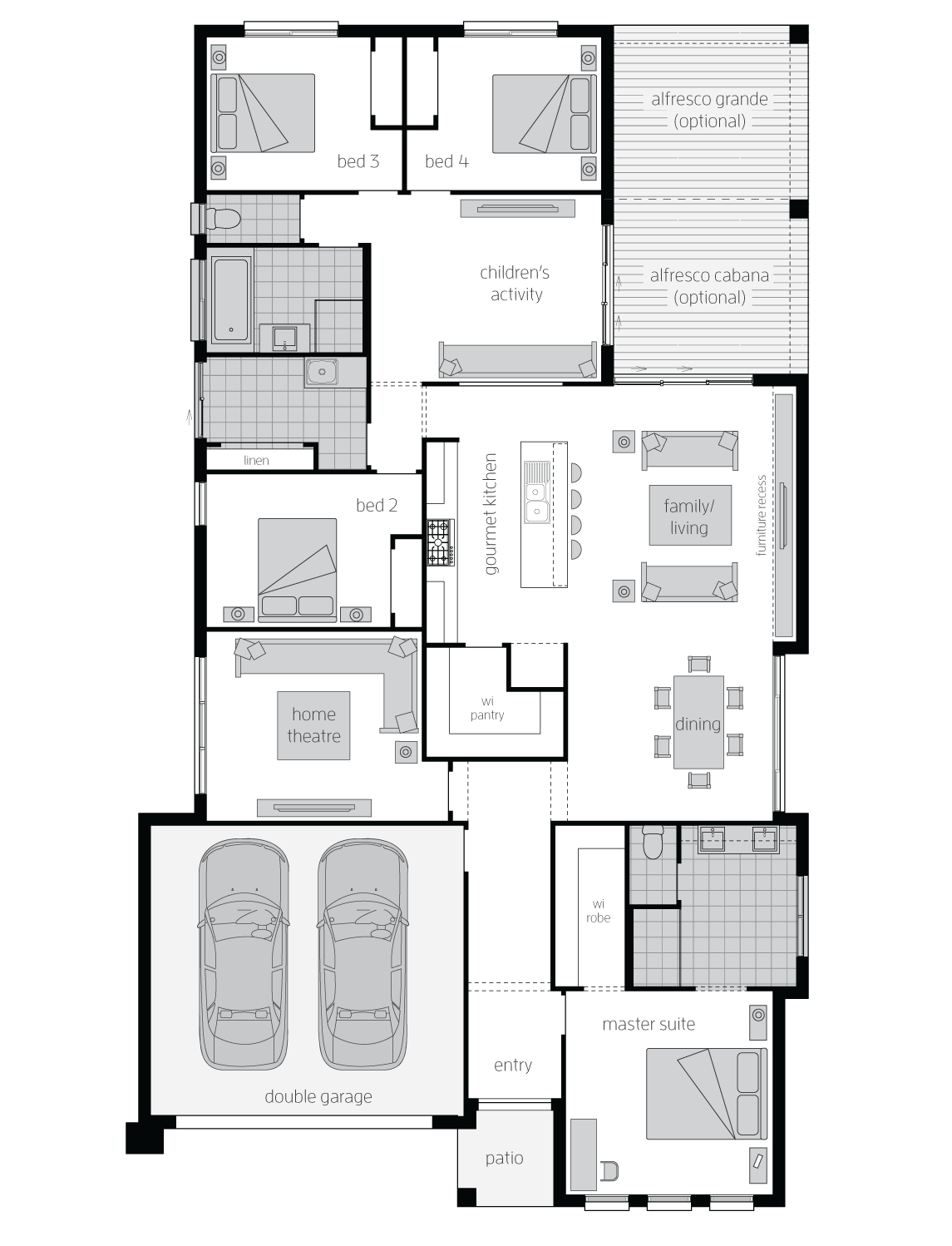 Veuve Executive Standard floorplan