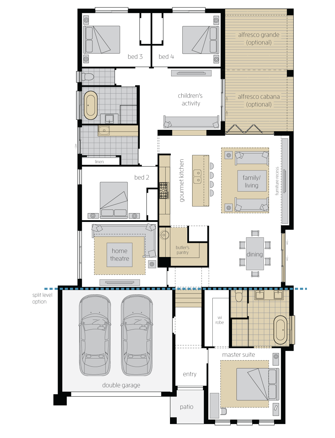 Veuve Executive Upgrade floorplan