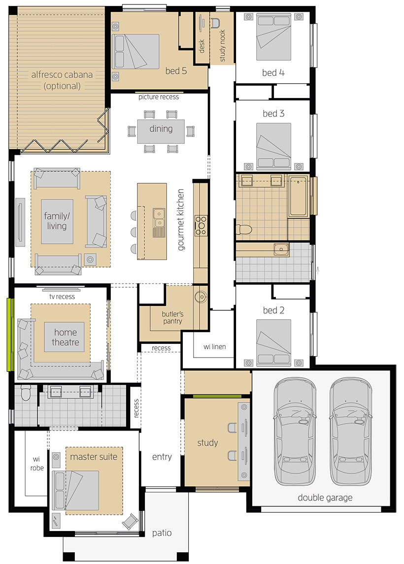 Coolum One Upgrade Floorplan lhs