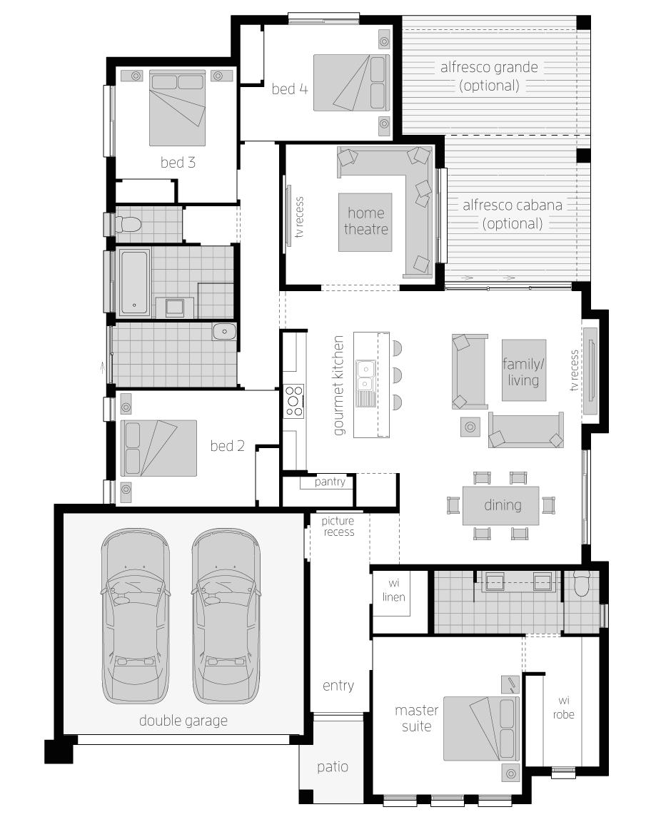 Floor Plan - Stoneleigh - Home Designs Canberra - McDonald Jones