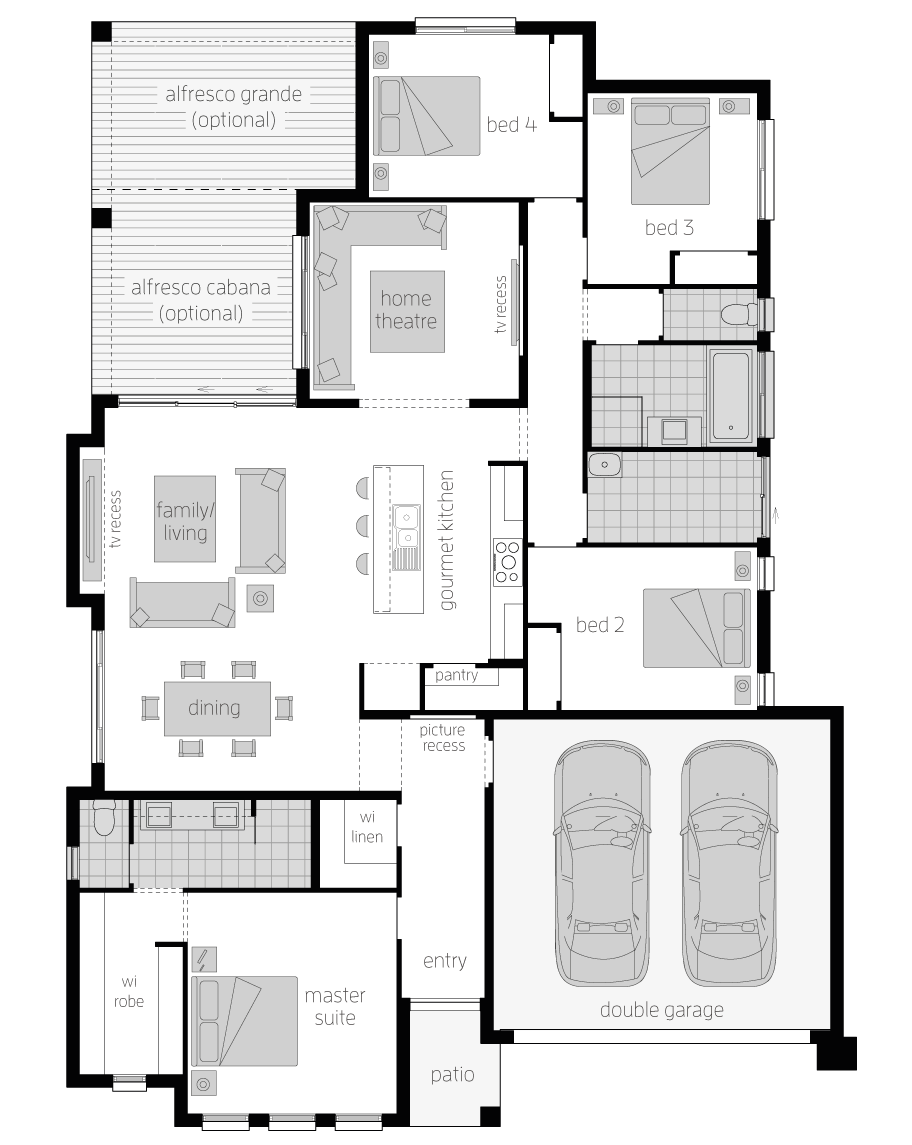 Floor Plan - Stoneleigh - Home Designs Canberra - McDonald Jones