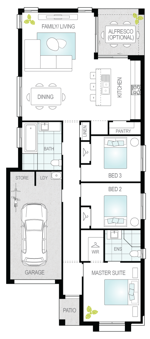Cabo- Single Storey Floor Plan- McDonald Jones