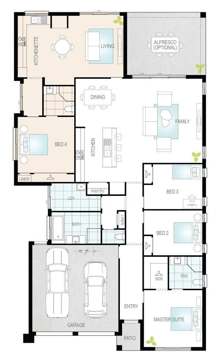 Duo One- Single Storey Floor Plan- McDonald Jones