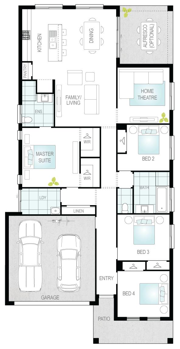 Vilena- Single Storey Floor Plan- McDonald Jones