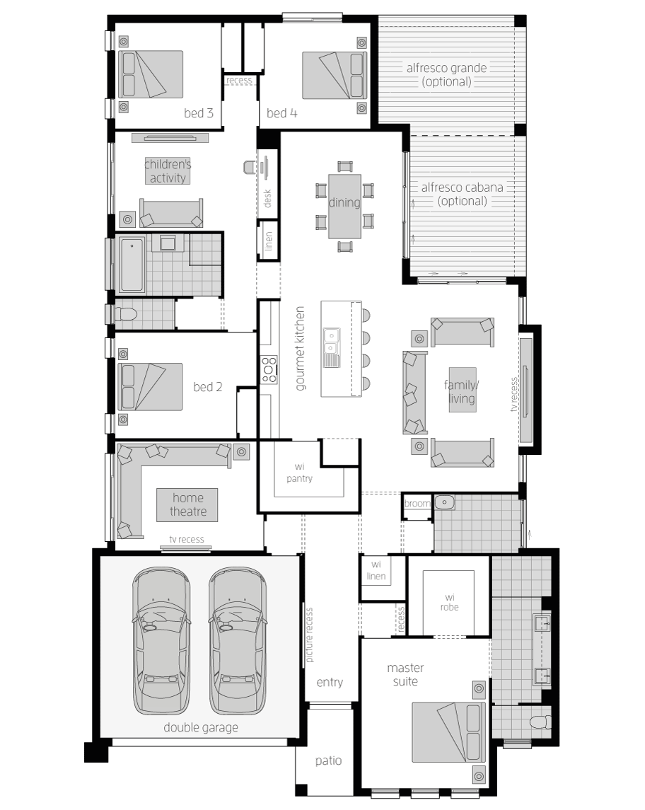 Floor Plan - Regency Home Design - Canberra - McDonald Jones