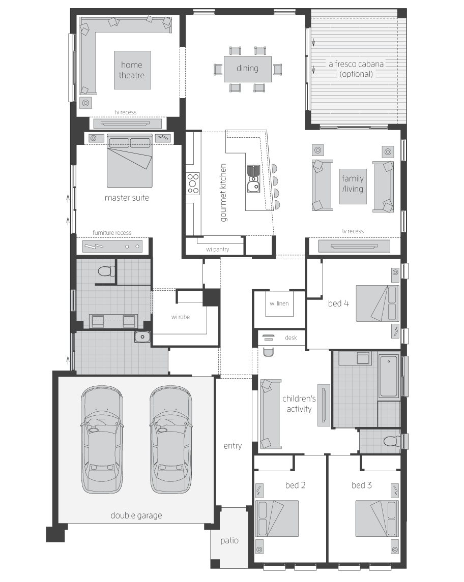 Floor Plan - Ambassador Home Design - Canberra - McDonald Jones