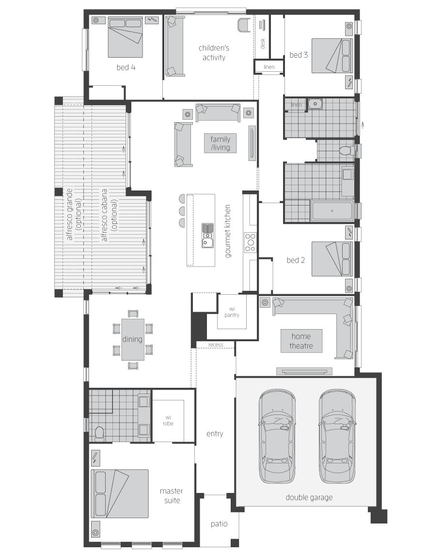 Floor Plan - Diplomat Home Design - Canberra - McDonald Jones