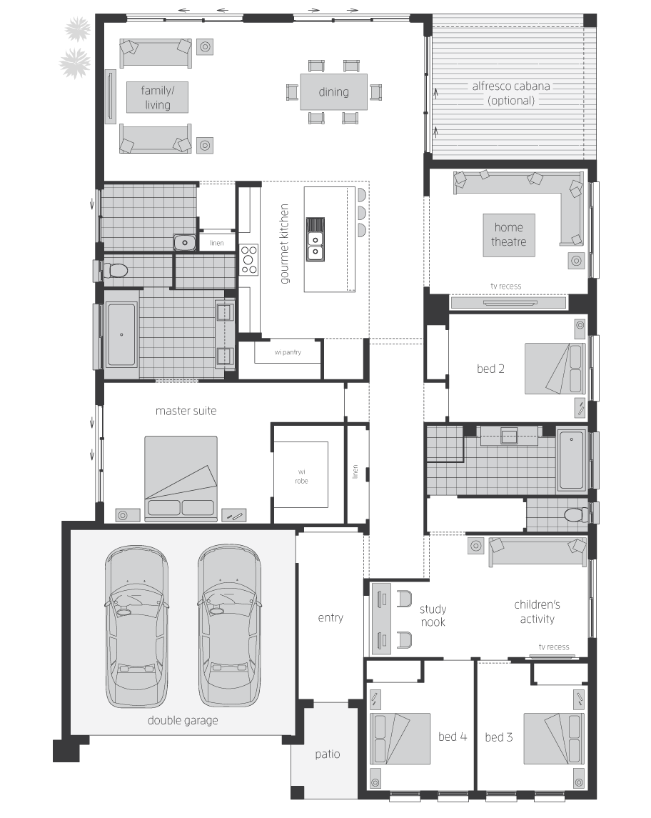 Floor Plan - Governor Home Design - Canberra - McDonald Jones