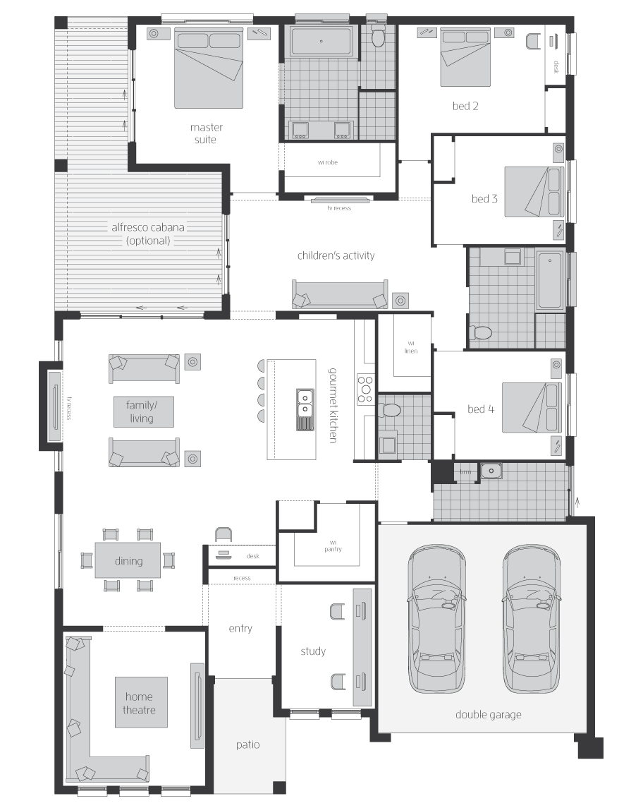 Floor Plan - Monarch Home Design - Canberra - McDonald Jones