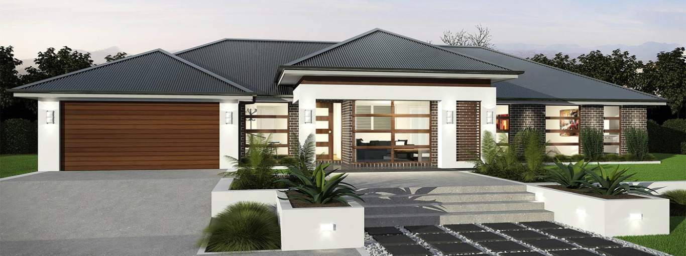 Balinese Tropicana B Facade - Hermitage - McDonald Jones Homes