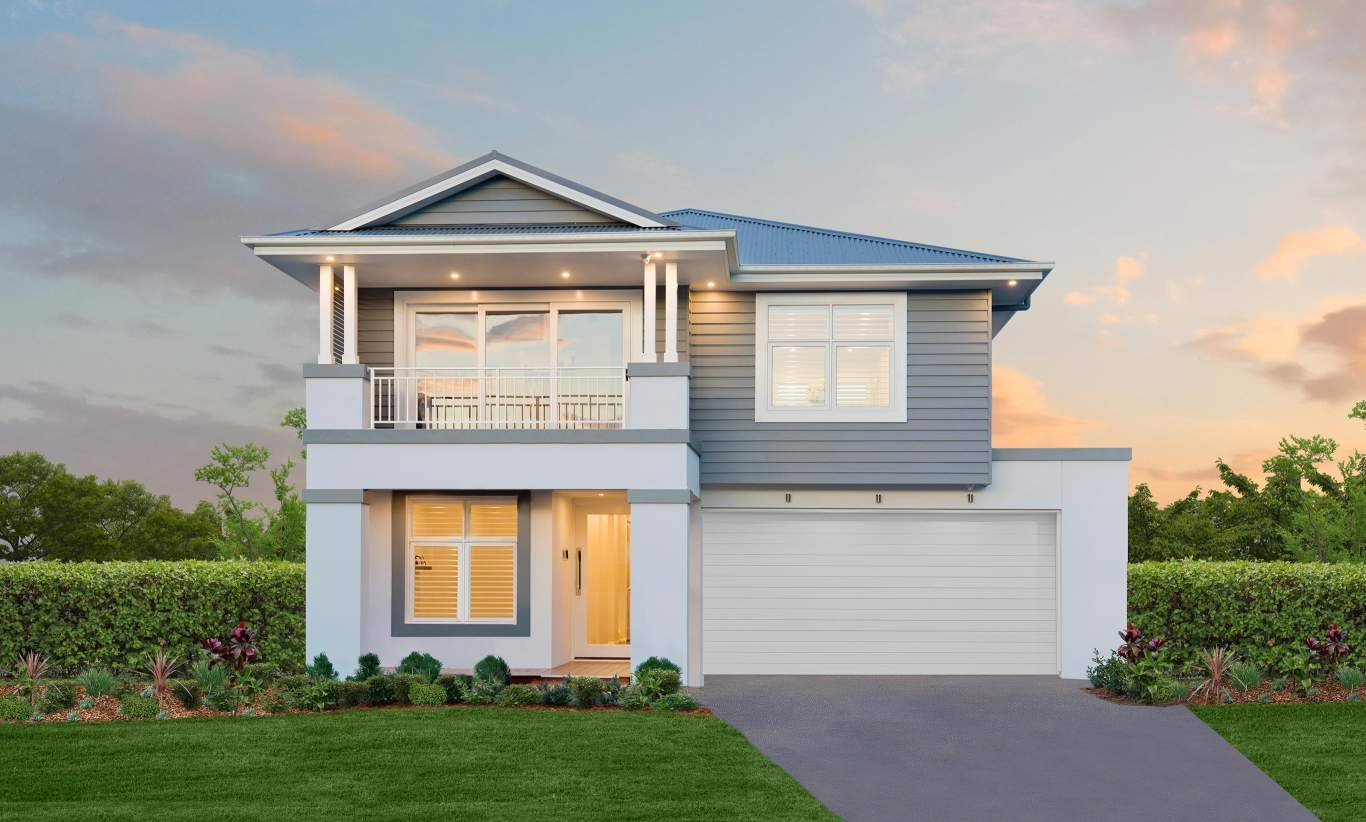 Hamptons B Facade- St Clair Luxury Two Storey Home - McDonald Jones