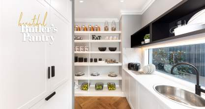 A beautiful Butler's Pantry in a McDonald Jones Display Home