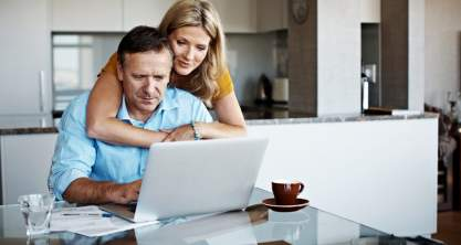 Couple exploring their MyChoice Home Loans options