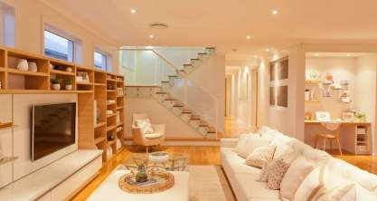 two storey home design staircase