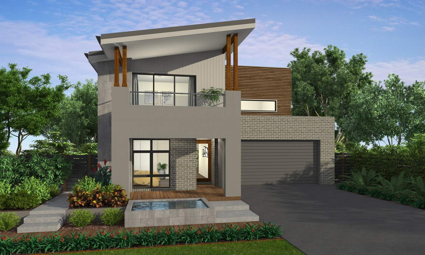 whitaker facade lexington28 mcdonald jones homes - Get Small Simple 2 Storey House Design With Terrace  Pictures
