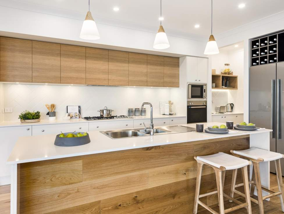 Kitchen, Portsea One Display Home, Wallis Creek, by McDonald Jones