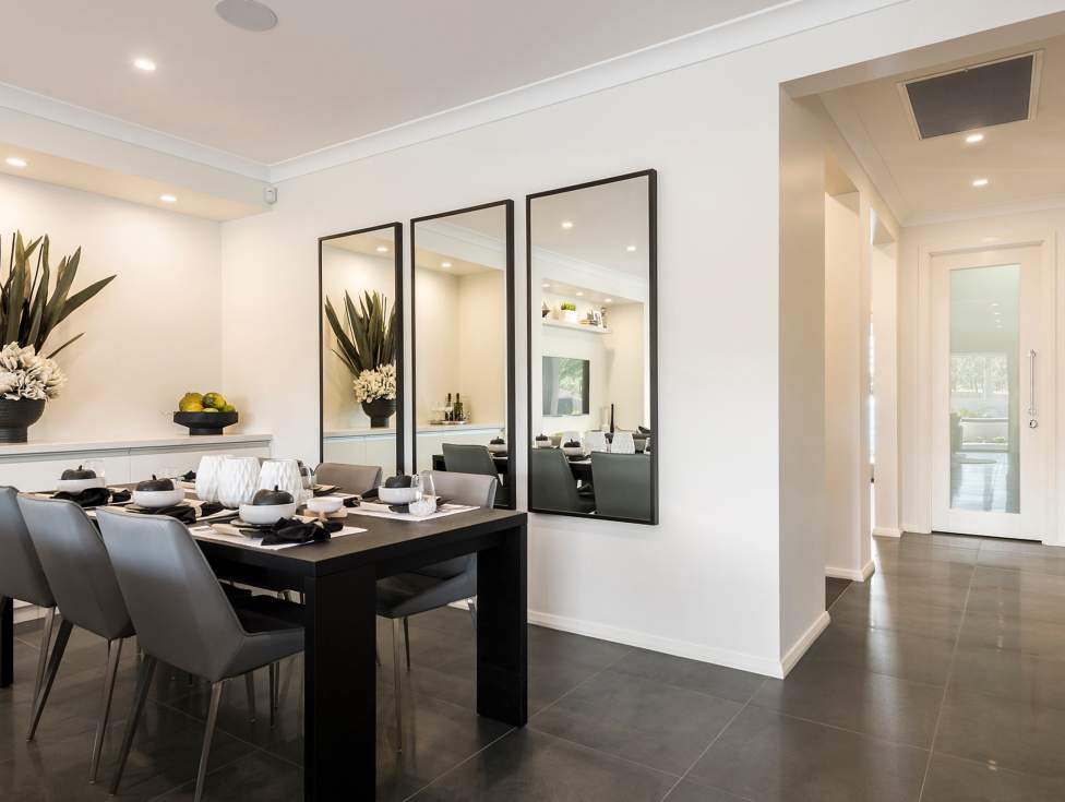 Dining Room in the Miami Display Home, Thornton - McDonald Jones