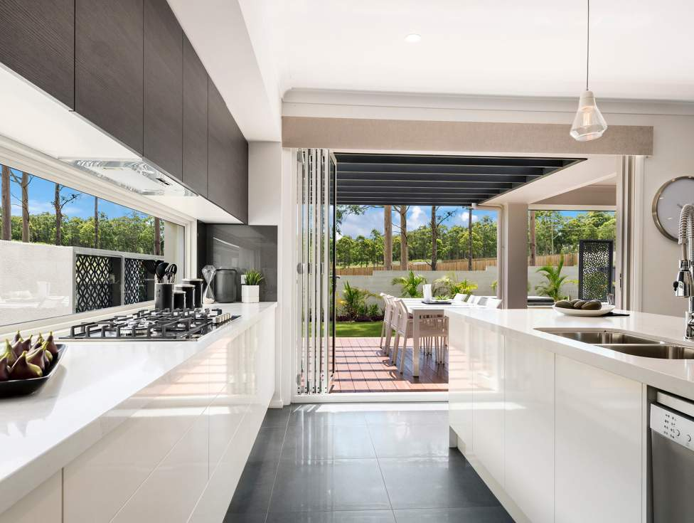 Kitchen & Alfresco in the Miami Display Home, Thornton - McDonald Jones