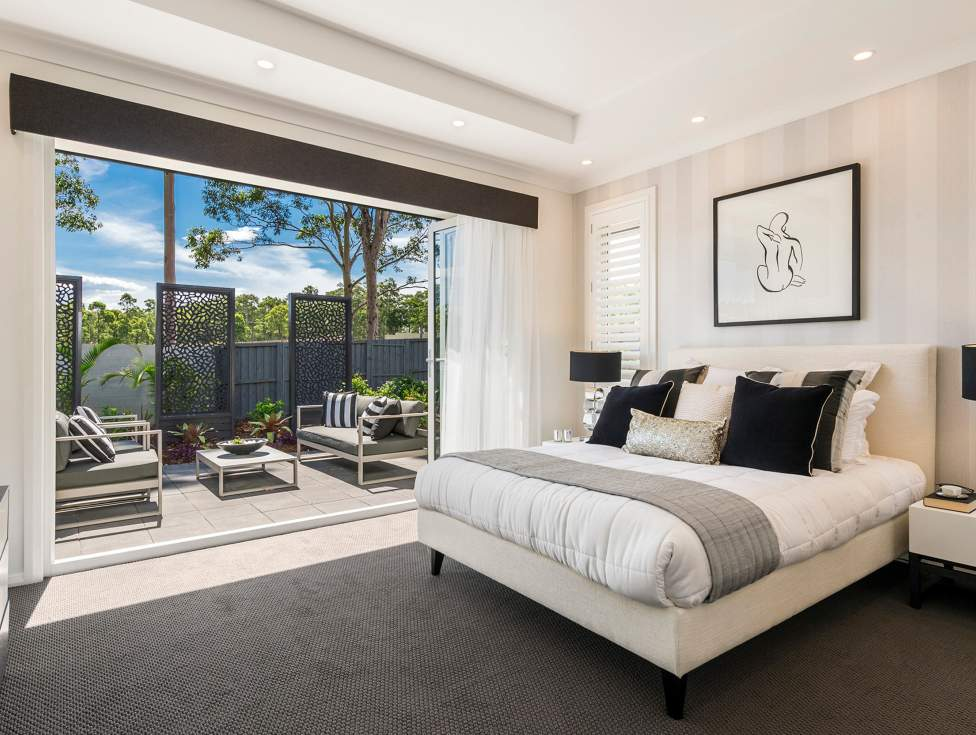 Master Bedroom in the Miami Display Home, Thornton - McDonald Jones